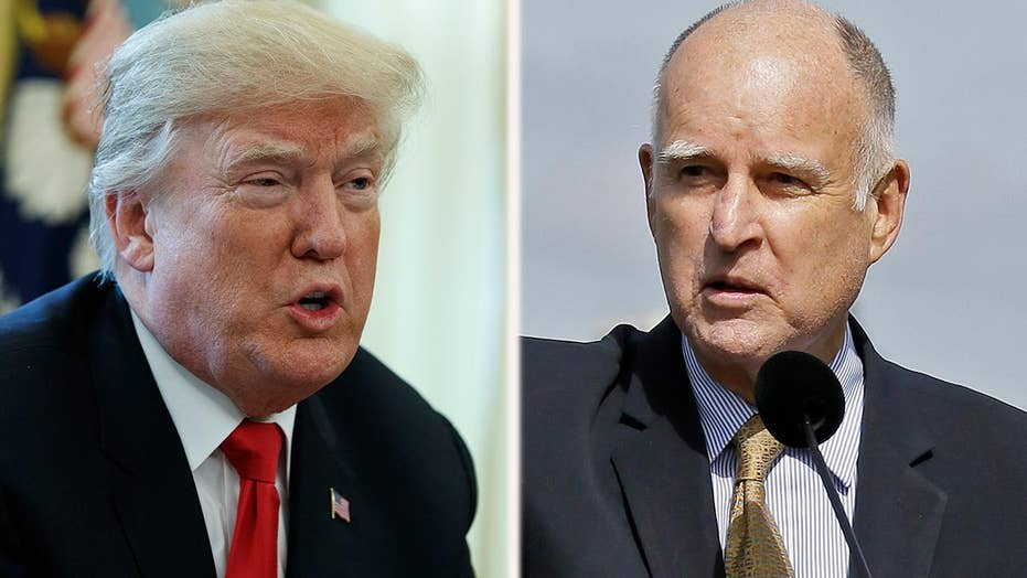 Gov. Brown butts heads with President Trump over immigration