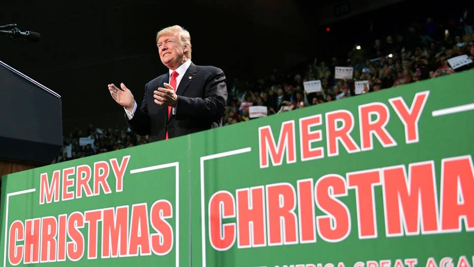 Liberal media attack Trump over use of 'merry Christmas'