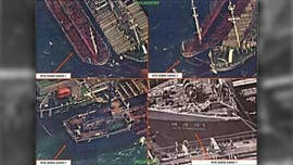 U.S. spy satellites reportedly captured photos of Chinese ships illegally selling oil to North Korean boats some 30 times since October.