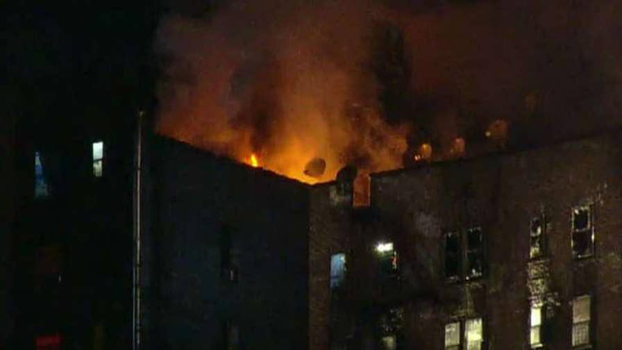 Over 170 firefighters worked for hours to contain the four-alarm blaze in the Bronx.