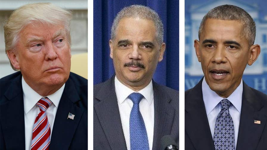 In wide-ranging interview with the New York Times, President Trump appears to take a swipe at Attorney General Jeff Sessions by praising Eric Holder's protection of former President Obama.
