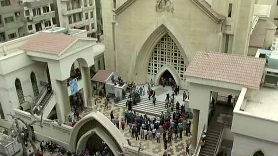 At least 10 killed in attack outside Coptic church in Cairo