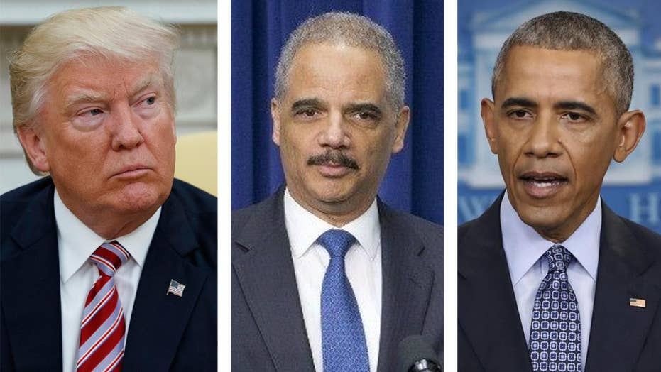 President Trump: Eric Holder protected Obama