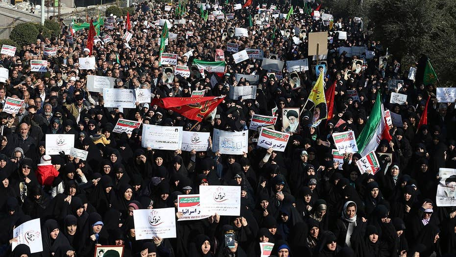 Pro-government Iranians rally in response to protests