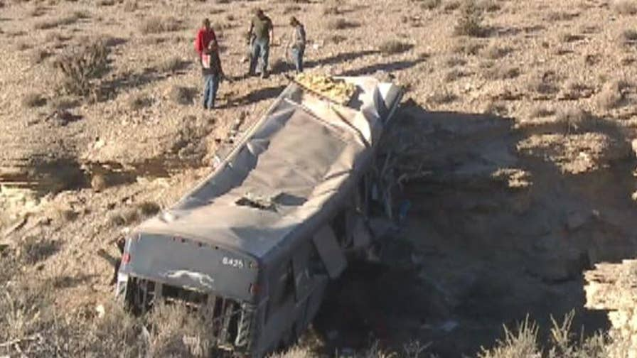 Vehicle was launched off of I-70 in Utah, police are investigating the cause of the crash.