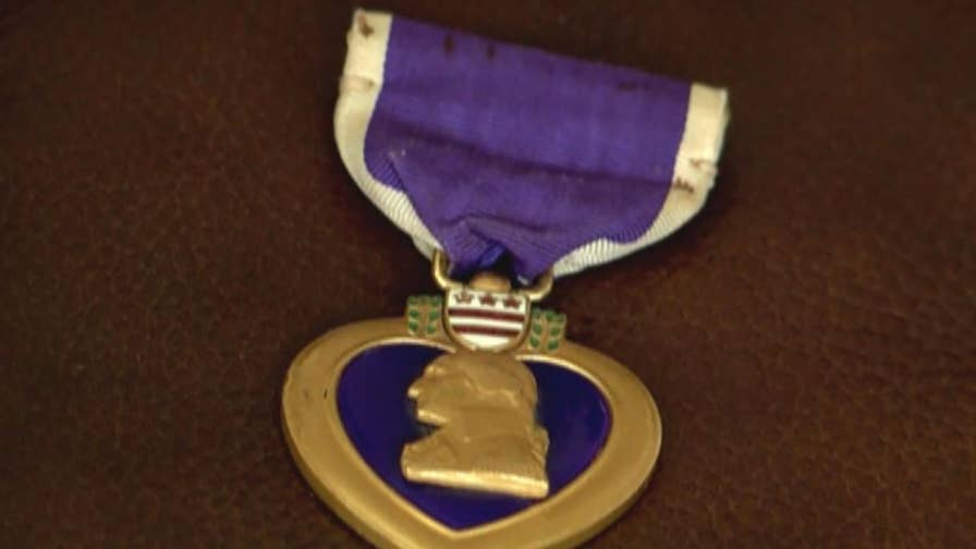 Medal belonging to Thomas F. Lachalle Jr. found in Albuquerque family's possessions.