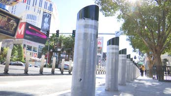 Las Vegas and New York City will install thousands of safety posts in high traffic areas.