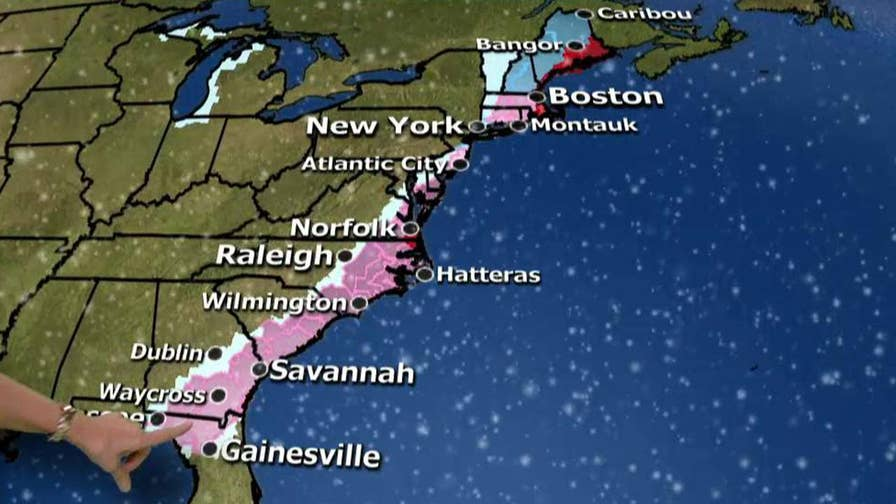Janice Dean has the latest on the East Coast storm impact.