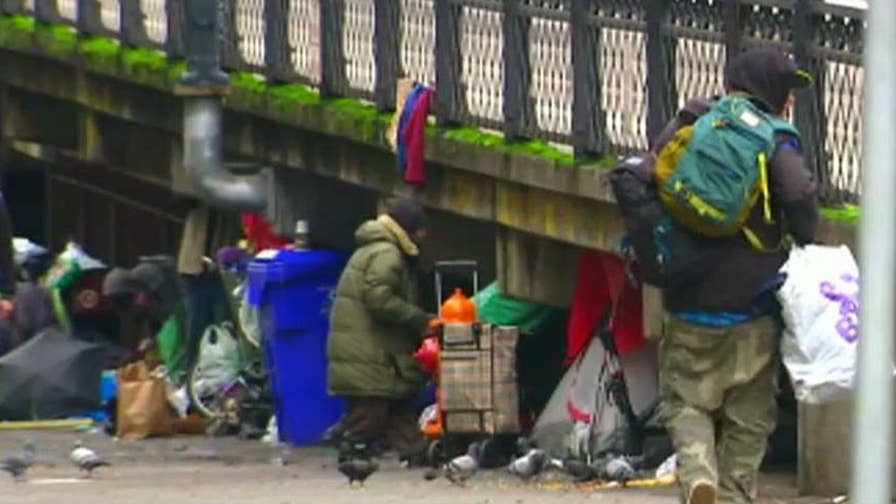 Store owners say they are tired of picking up needles left behind by the homeless addicts.