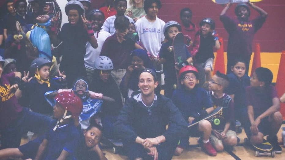After-school skateboarders give back to kids in need