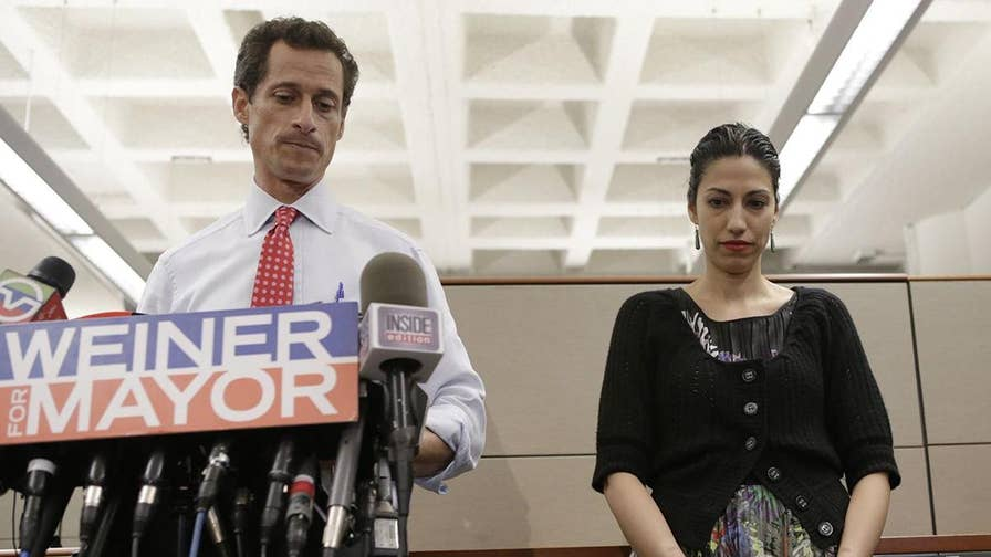 Huma Abedin could be in potential legal trouble as watchdog reveals at least 18 classified emails in the 798 documents recently produced by the State Department in Clinton email probe were found on estranged husband Anthony Weiner's laptop. #Tucker