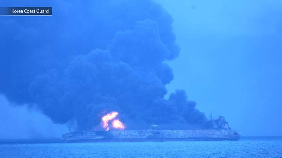 Iranian oil tanker collides with freighter, catches fire in East China Sea; Benjamin Hall reports from London.