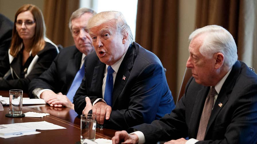 The president went into the televised meeting demanding security provisions, like a wall, an end to chain immigration and the visa lottery and more ICE agents in return for a DACA fix; John Roberts has the roundup for 'Special Report.'