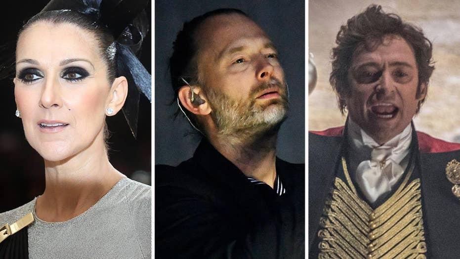 Celine laid low, Radiohead sues and 'Showman' soars