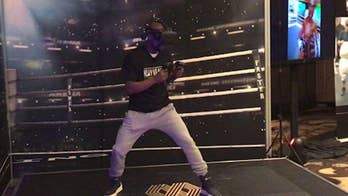 Undefeated fighter Floyd Mayweather Jr. ventures in virtual reality for professional boxing experience.