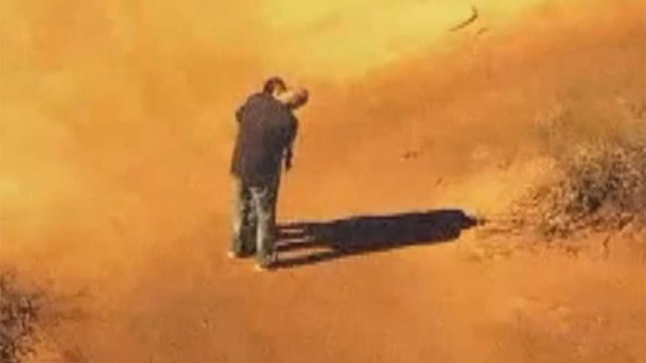 Dramatic high-speed chase ends with a hug, a kiss and two