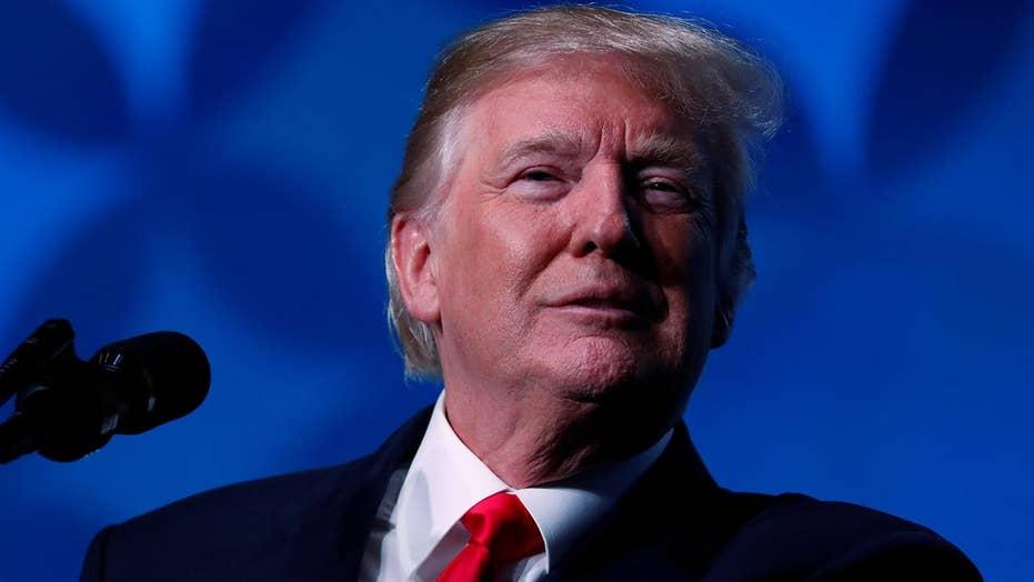 Trump touts economic progress in first year