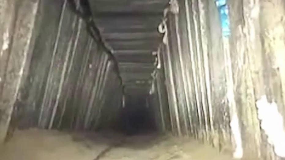 Israeli army destroys Hamas tunnel