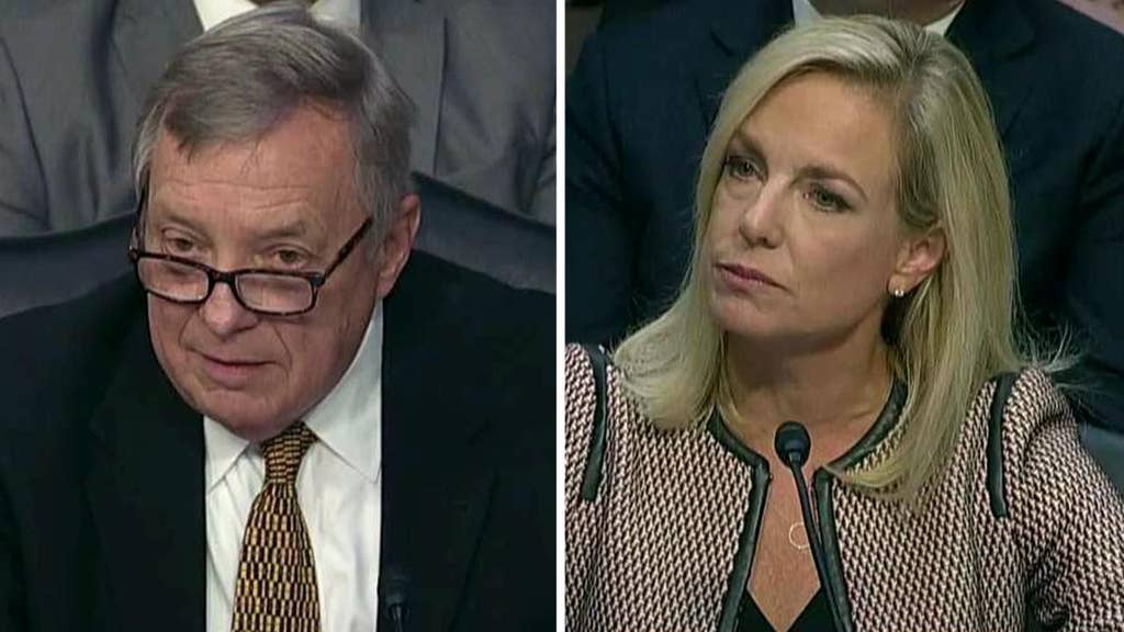 DHS secretary hit with 's---' load of questions about Trump's language