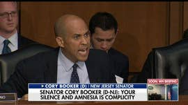"Republicans are slamming Democratic Sen. Cory Booker for ""mansplaining"" in his grilling of Department of Homeland Security Secretary Kirstjen Nielsen Wednesday, when he blasted her ""silence and amnesia,"" leaving some questioning the existence of a 'double standard.'"