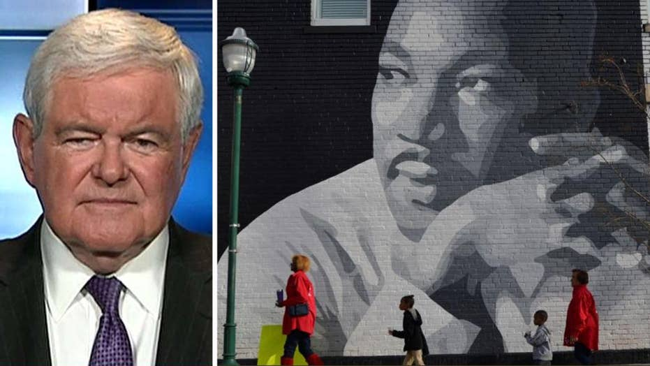 Gingrich: US still far from Martin Luther King's dream