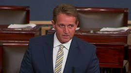 "Outgoing Republican Sen. Jeff Flake attacked President Trump Wednesday from the Senate floor, saying ""The free press is the despot's enemy."""