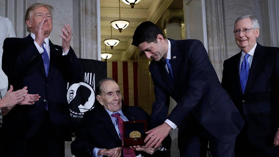 Bob Dole presented with Congressional Gold Medal