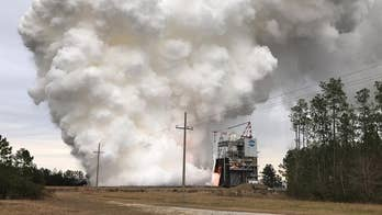 NASA tested its powerful RS-25 rocket engine with a 3-D printed part at the Stennis Space Center in Mississippi on January 16. The move is part of a cost saving measure for future deep space missions.