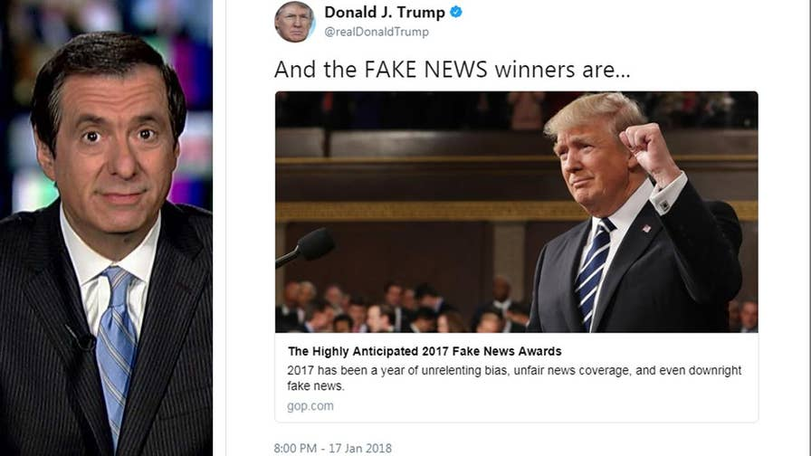 'MediaBuzz' host Howard Kurtz weighs in on the recently announced winners of the '2017 Fake News Awards' as decided by the Trump administration.