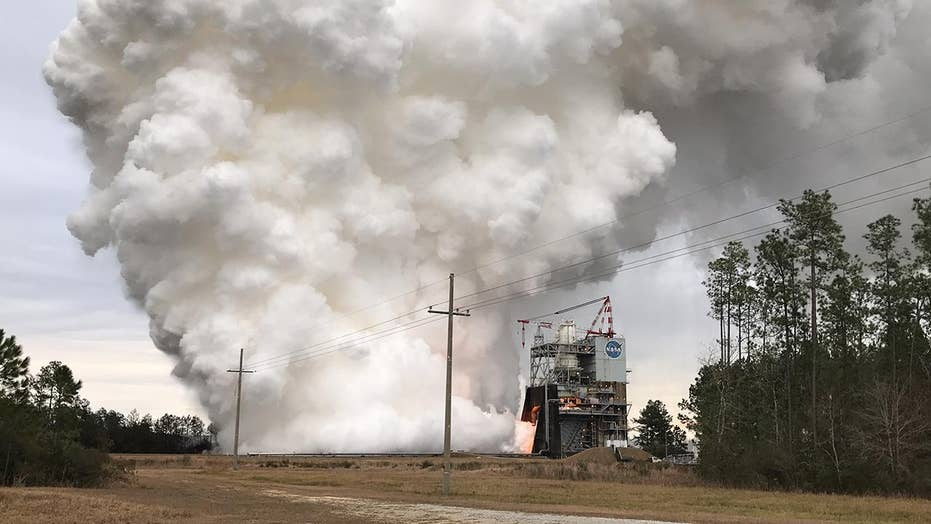 NASA test fires engine with 3-D printed part