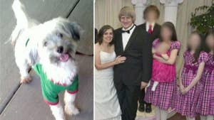 Authorities say the couple's 2 dogs were well cared for while their 13 children were starved and tortured.
