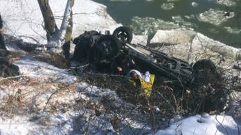 911 dispatchers in Indiana used GPS to pinpoint the 66-year-old's location after his truck flipped, slid down an embankment and came to rest in the Driftwood River.