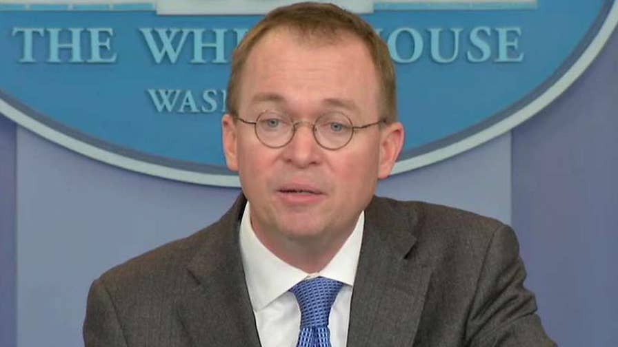 Director of the Office of Management and Budget says the White House does not want a government shutdown, accuses Sen. Schumer of forcing it on the American people.