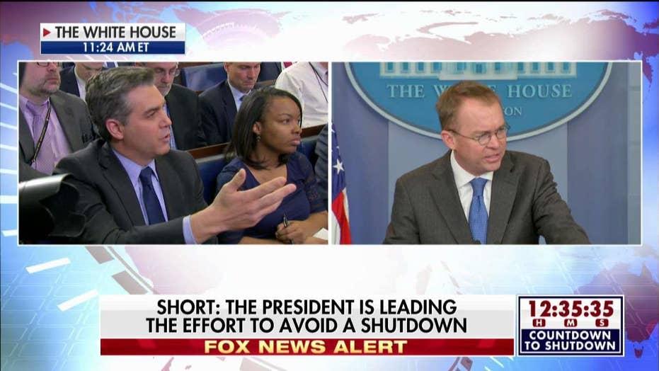 Mulvaney Pushes Back on CNN's Acosta on Shutdown Blame