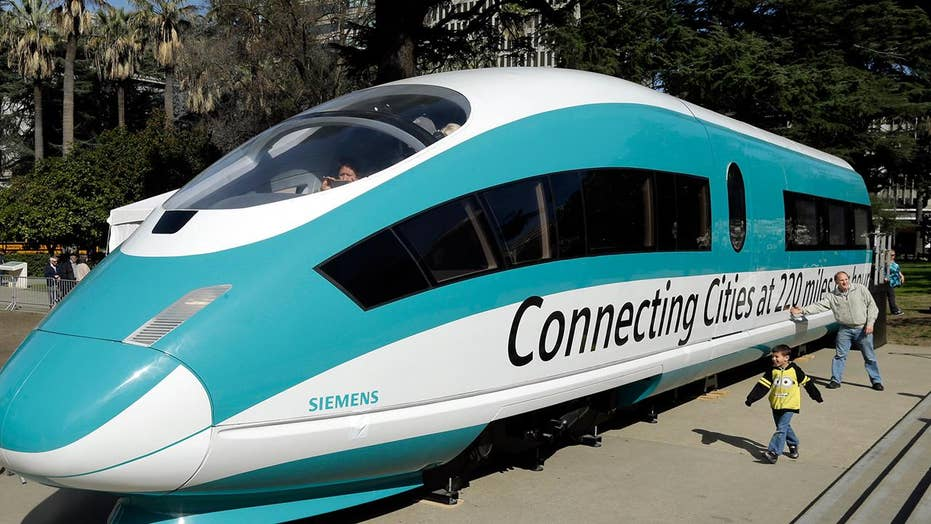 California bullet train cost hiked by billions of dollars
