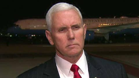 Pence makes remarks after meeting with Egyptian leader