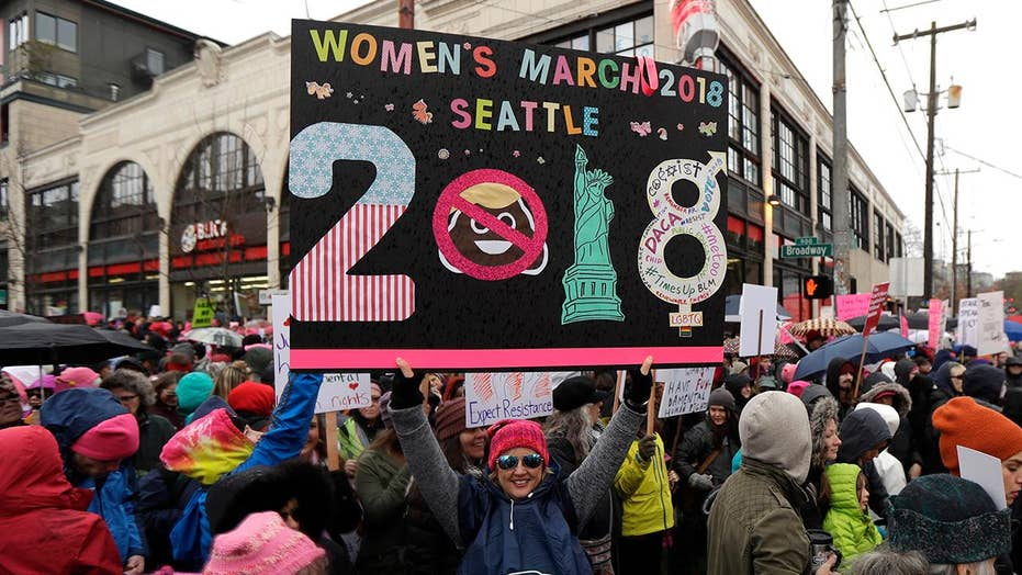 How did the Women's March change over one year?
