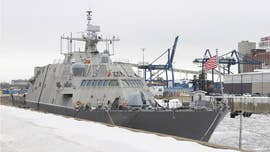 A brand new U.S. Navy warship has not moved from Montreal since Christmas Eve and will spend the winter stuck in Canada due to cold and ice.