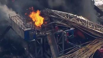 Sheriff says more than 20 employees were on site when the rig exploded; witnesses say you could see thick, black smoke billowing from the area for miles.