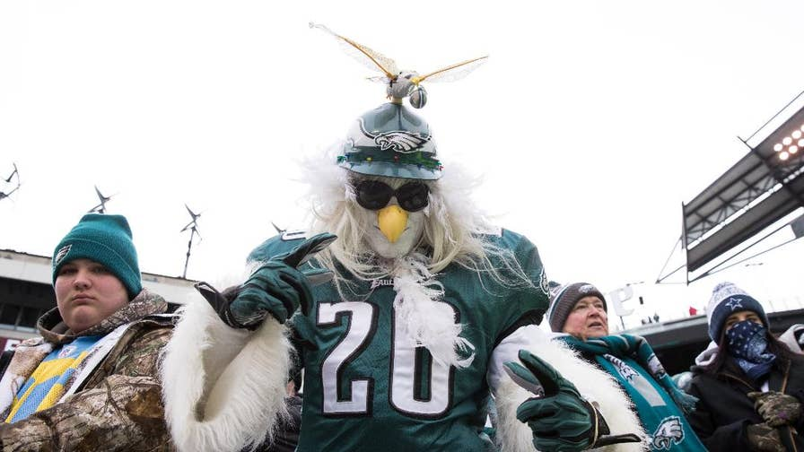 From dune buggies to fireworks, Philadelphia Eagles fans took to the streets to celebrate the team's NFC win and slot in Super Bowl 52.