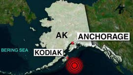 A 7.9 magnitude earthquake was recorded early Tuesday about 155 miles off of Chiniak, Alaska, prompting a tsunami warning, the U.S. Geological Survey said.