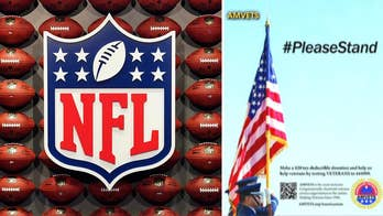 One-page print ad encouraging players to stand for the national anthem will not be seen in Super Bowl program.