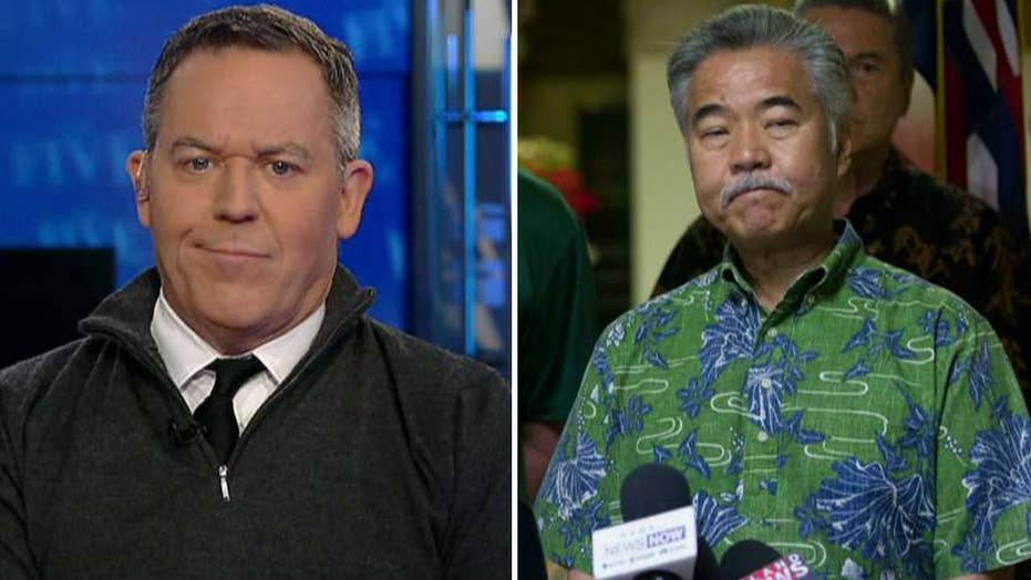 Gutfeld on the Hawaii governor's terrible excuse