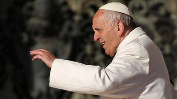 Pope Francis takes on 'fake news' and says its first purveyor was actually the 'crafty serpent' in the Garden of Eden.