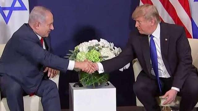 Netanyahu praises Trump's leadership in Davos meeting