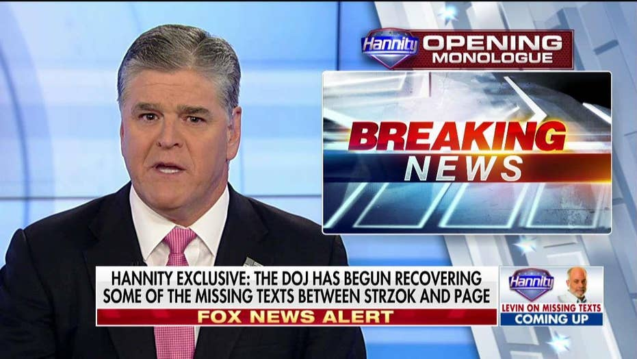 Hannity Breaking News   DOJ Looking at Strzok Texts