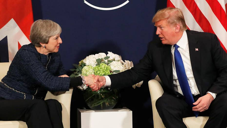 Trump, May reaffirm 'special relationship' in Davos