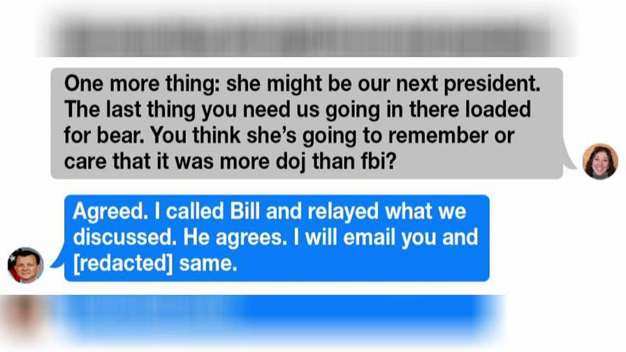 A DOJ watchdog recovered the missing messages between two of the bureau's officials.