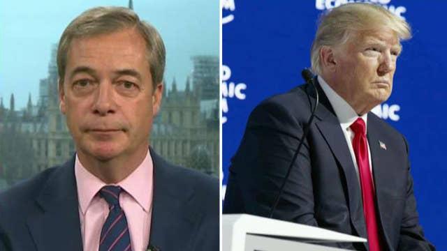 Nigel Farage: Reaction to Trump in Davos was stunning