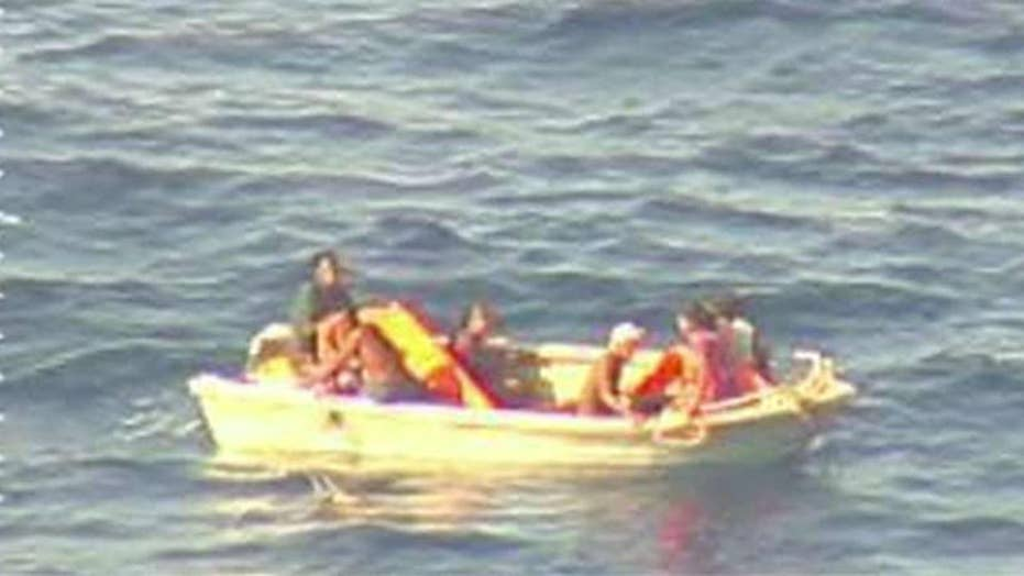 7 rescued from life raft in New Zealand